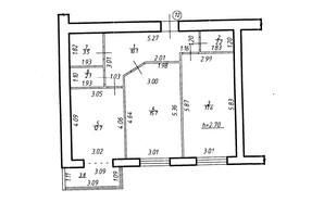 ЖК Містечко Центральне: планировка 2-комнатной квартиры 66.9 м²