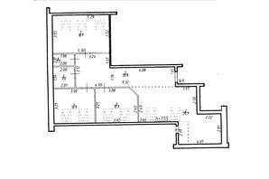 ЖК Містечко Центральне: планировка 3-комнатной квартиры 96.3 м²