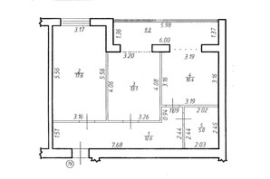 ЖК Містечко Центральне: планировка 2-комнатной квартиры 68 м²