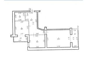 ЖК Містечко Центральне: планировка 2-комнатной квартиры 75.1 м²