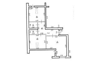 ЖК Містечко Центральне: планировка 2-комнатной квартиры 72.1 м²