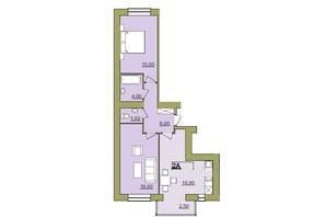 ЖК Містечко Центральне: планировка 2-комнатной квартиры 63 м²