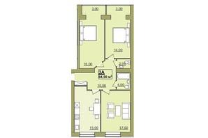 ЖК Містечко Центральне: планировка 3-комнатной квартиры 84 м²
