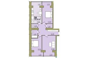 ЖК Містечко Центральне: планировка 3-комнатной квартиры 87 м²