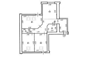 ЖК Містечко Центральне: планировка 3-комнатной квартиры 83.3 м²