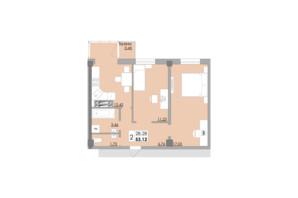 ЖК Місто Мрій: планировка 2-комнатной квартиры 53.12 м²