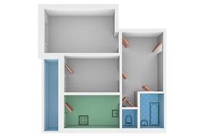 ЖК Молодежный квартал: планировка 2-комнатной квартиры 65.8 м²