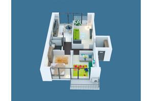 ЖК Молодіжний: планування 3-кімнатної квартири 87 м²