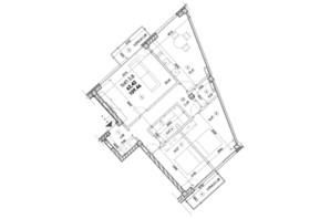 ЖК Молодіжний: планування 4-кімнатної квартири 109 м²