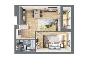 ЖК Montreal House: планування 1-кімнатної квартири 54.22 м²