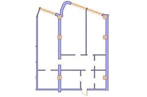 ЖК Морська симфонія: планування 3-кімнатної квартири 119.4 м²