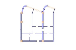 ЖК Морська симфонія: планування 2-кімнатної квартири 108.1 м²