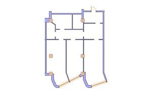 ЖК Морська симфонія: планування 2-кімнатної квартири 115.5 м²