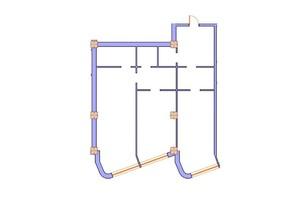 ЖК Морська симфонія: планування 2-кімнатної квартири 116.1 м²