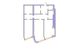 ЖК Морська симфонія: планування 2-кімнатної квартири 131 м²