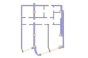 ЖК Морська симфонія: планування 2-кімнатної квартири 132.7 м²