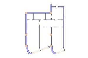 ЖК Морська симфонія: планування 3-кімнатної квартири 112.6 м²