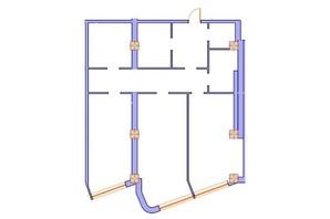 ЖК Морська симфонія: планування 3-кімнатної квартири 132.7 м²