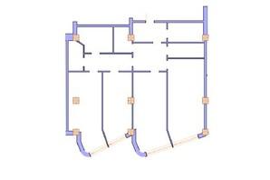 ЖК Морська симфонія: планування 2-кімнатної квартири 133.6 м²