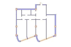 ЖК Морська симфонія: планування 3-кімнатної квартири 140.4 м²