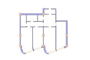 ЖК Морська симфонія: планування 3-кімнатної квартири 143.6 м²