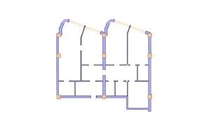 ЖК Морська симфонія: планування 3-кімнатної квартири 145.4 м²