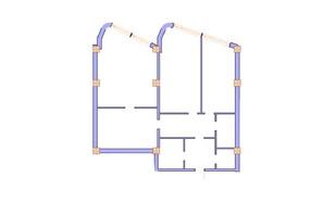 ЖК Морська симфонія: планування 3-кімнатної квартири 150.3 м²