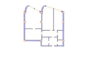 ЖК Морська симфонія: планування 3-кімнатної квартири 150.5 м²