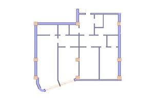ЖК Морська симфонія: планування 3-кімнатної квартири 150.7 м²