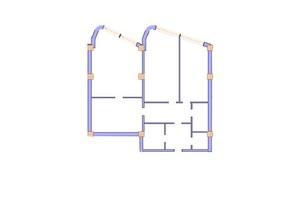 ЖК Морська симфонія: планування 3-кімнатної квартири 152.8 м²