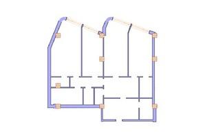 ЖК Морська симфонія: планування 3-кімнатної квартири 155.5 м²