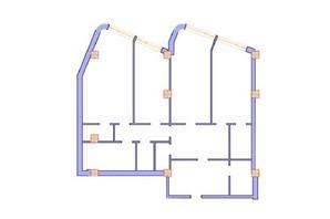 ЖК Морська симфонія: планування 3-кімнатної квартири 156.4 м²