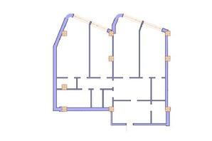 ЖК Морська симфонія: планування 3-кімнатної квартири 156.6 м²