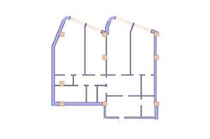 ЖК Морська симфонія: планування 3-кімнатної квартири 156.8 м²