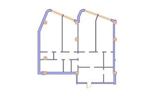 ЖК Морська симфонія: планування 3-кімнатної квартири 157.2 м²