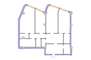 ЖК Морська симфонія: планування 3-кімнатної квартири 157.3 м²
