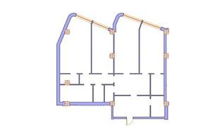 ЖК Морська симфонія: планування 3-кімнатної квартири 157.5 м²
