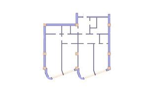 ЖК Морська симфонія: планування 3-кімнатної квартири 157.8 м²