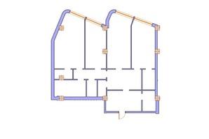 ЖК Морська симфонія: планування 3-кімнатної квартири 158.1 м²