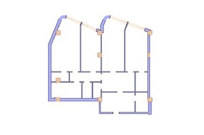 ЖК Морська симфонія: планування 3-кімнатної квартири 161.9 м²