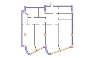 ЖК Морська симфонія: планування 3-кімнатної квартири 163.2 м²