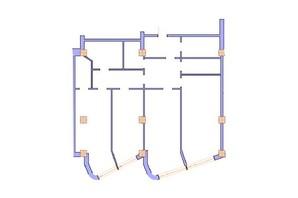 ЖК Морська симфонія: планування 3-кімнатної квартири 163.8 м²