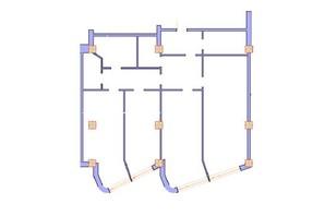 ЖК Морська симфонія: планування 3-кімнатної квартири 165.8 м²