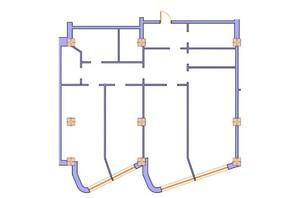 ЖК Морська симфонія: планування 4-кімнатної квартири 166.7 м²