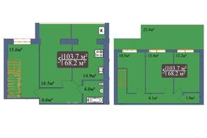 ЖК Мрія Чернігів 2: планировка 5-комнатной квартиры 103.7 м²