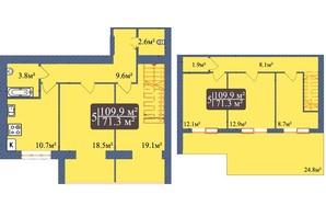 ЖК Мрія Чернігів 2: планировка 5-комнатной квартиры 109.9 м²