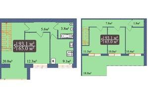 ЖК Мрія Чернігів 2: планировка 5-комнатной квартиры 93.1 м²