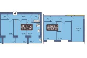 ЖК Мрія Миколаїв: планування 3-кімнатної квартири 110.8 м²