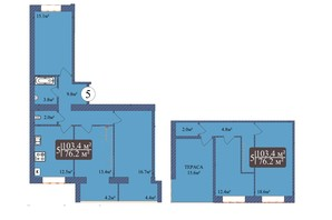 ЖК Мрія Миколаїв: планування 3-кімнатної квартири 135 м²