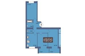 ЖК Мрія Миколаїв: планування 3-кімнатної квартири 81.9 м²